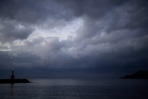 珍しく風が弱い夕暮れの港|Nikon D600+SIGMA 50mm F1.4 DG HSM+Capture NX-D